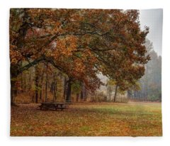 Fog And Foliage Fleece Blanket