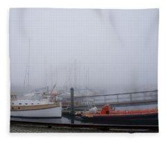 Fog In Marina IIi Fleece Blanket