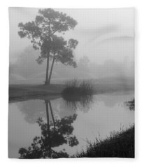 Foggy Morning 2 Fleece Blanket