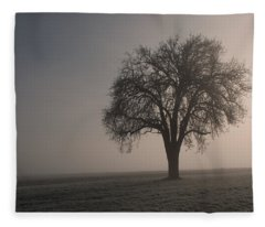 Foggy Morning Sunshine Fleece Blanket