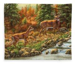 Whitetail Deer - Follow Me Fleece Blanket