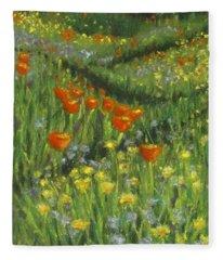 Poppy Trail Fleece Blanket