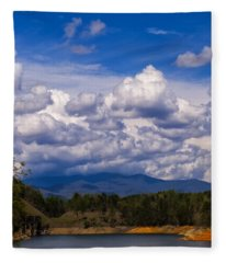 Fontana Lake Storm 2 Fleece Blanket