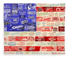 Food Advertising Flag Fleece Blanket
