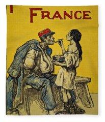 Food For France, 1918 Fleece Blanket