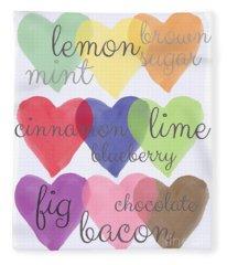 Foodie Love Fleece Blanket