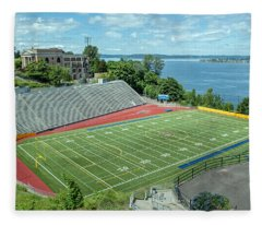 Football Field By The Bay Fleece Blanket