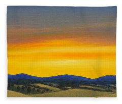 Foothills Sunrise Fleece Blanket