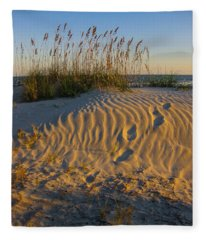Footprints Fleece Blanket