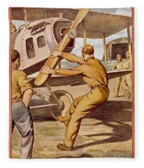 For Action, Enlist In The Air Service Fleece Blanket