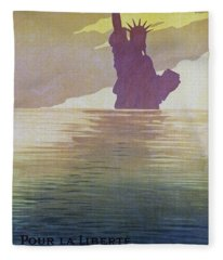 For The Freedom Of The World, 1917 Fleece Blanket