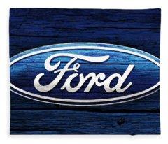 Ford Barn Door Fleece Blanket