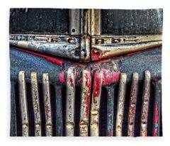 Ford Dump Truck Grille Fleece Blanket