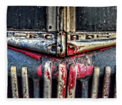 Ford Dump Truck Grille Pan Fleece Blanket