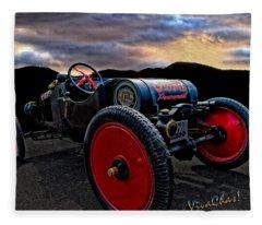 Ford Model T Racer Beat The Storm Home Fleece Blanket