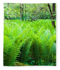 Forest Ferns   Fleece Blanket