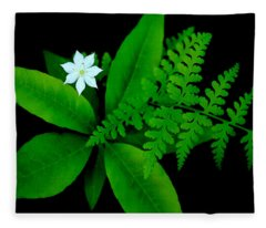 Forest Floor Scene Fleece Blanket