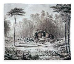 Forest Road, 1836 Fleece Blanket