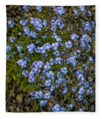 Forget-me-nots Fleece Blanket