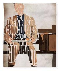 Forrest Gump - Tom Hanks Fleece Blanket