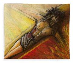 Psalm 22 Forsaken Fleece Blanket