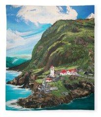 Fort Amherst Newfoundland Fleece Blanket