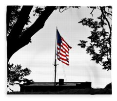 Fort Mchenry Flag Color Splash Fleece Blanket