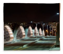 Fort Worth Seventh Street Bridge Oct 10 2014 Fleece Blanket