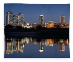 Fort Worth Skyline 020915 Fleece Blanket