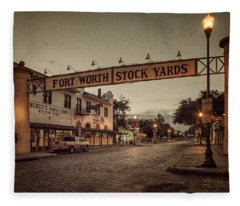 Fort Worth Stockyards Fleece Blanket