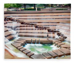 Fort Worth Water Garden V7 Fleece Blanket