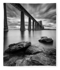 Forth Bridge Fleece Blanket