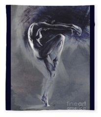 Fount II. Textured B. Fleece Blanket