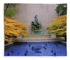 Fountain In A Garden, Fountain Of The Fleece Blanket