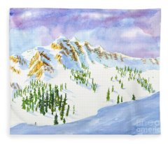 Four Sisters At Snowbasin Fleece Blanket