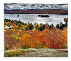 Fourth Lake From Above Fleece Blanket