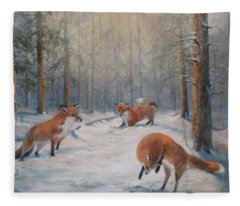 Forest Games Fleece Blanket