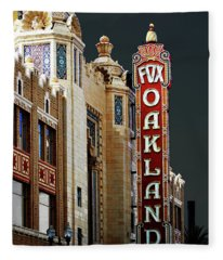 Fox Theater . Oakland California Fleece Blanket