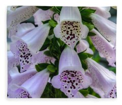 Foxglove At Waters Edge Fleece Blanket