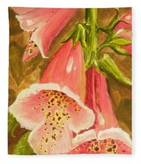Foxy Foxglove Of Williamsburg Fleece Blanket