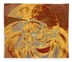 Fractal Ammonite Fleece Blanket