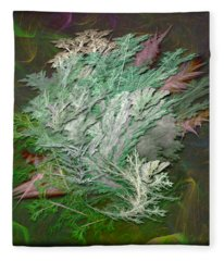 Fractal Ferns Fleece Blanket