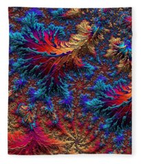 Fractal Jewels Series - Beauty On Fire II Fleece Blanket