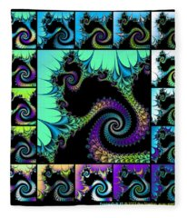 Fractal Quilt 5  Fleece Blanket