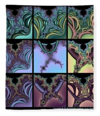 Fractal Quilt 7 Fleece Blanket