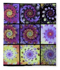Fractal Quilt 8  Fleece Blanket