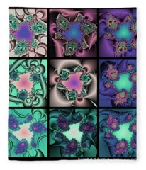 Fractal Quilt 9  Fleece Blanket