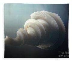 Fractal Seashell  Fleece Blanket