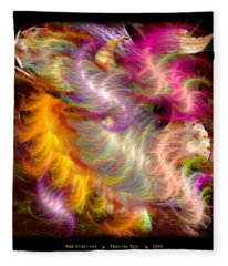 Fractal Silk Fleece Blanket