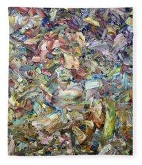 Roadside Fragmentation Fleece Blanket